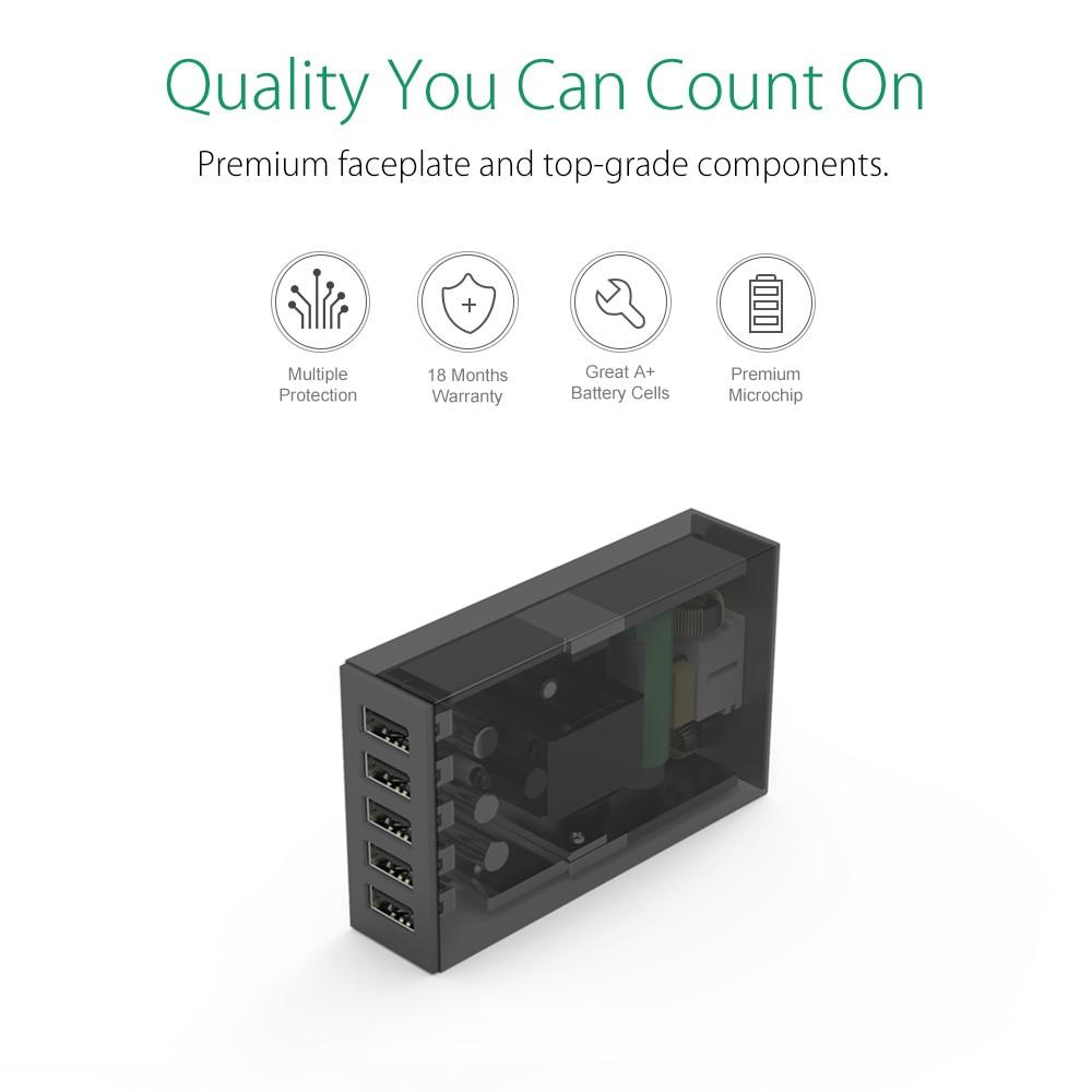 ORICO 5 Ports Desktop-Ladegerät USB-Handy-Ladegerät Reiseladegerät - Handy-Zubehör und Ersatzteile - Foto 4