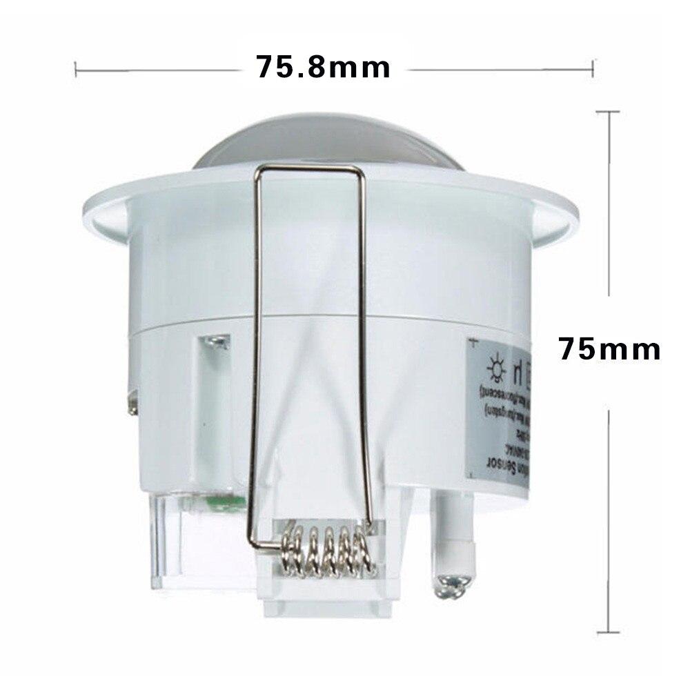 Image 5 - 360 graus mini infravermelho pir detecção ir parede teto recessed  sensor de movimento detector interruptor de luz automáticaSensor e  detector