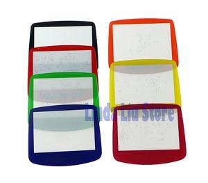Image 2 - ChengChengDianWan 7 couleurs pour GBA système de remplacement protecteur en plastique écran lentille protecteur 10 pièces/lot