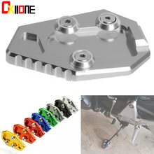 Motorcycle Stand Side Enlarge CNC Aluminum Kickstand Footrest Accessories For Honda CB1000R CB 1000R 2008-2015