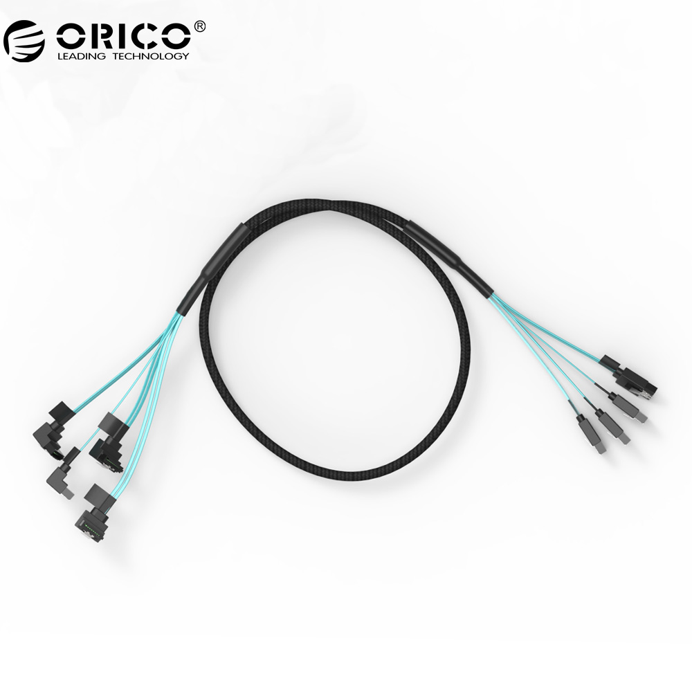 ORICO CPD-7P6G-BW904S-V1 Serial SATA 3.0 DATA Cable SAS Cablewith Locking Latch, 6 Gbps, 60cm SSD Hard Line orico original sata3 0 four set sata data cable sas solid ssd hard line black cpd 7p6g bw904s v1