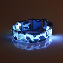 Dogs Luminous Fluorescent Collars Pet Supplies Nylon Dog Collar Night Safety LED Glow Dog Harness Cat Collars Glow In The Dark