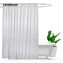 UFRIDAY 3D עמיד למים מקלחת וילון PEVA פלסטיק אמבטיה שקופה וילון מקלחת וילונות עבה אמבט וילון עם מגנטים