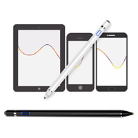 Double tip USB Rechargeable Active Capacitive Touch Screen Stylus Pen for Apple iPhone iPad Huawei Samsung Smartphones Tablets Tablet Touch Pens Computer & Office -