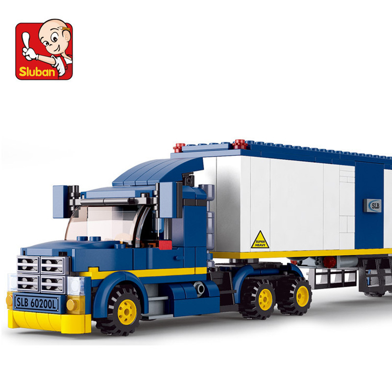 Sluban model building kits compatible with lego city truck 580 3D blocks Educational model & building toys hobbies for children loz mini diamond block world famous architecture financial center swfc shangha china city nanoblock model brick educational toys