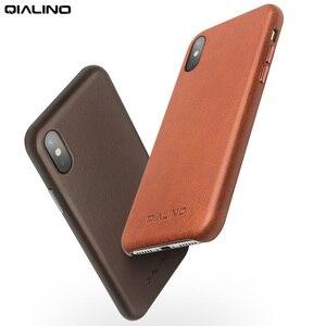 Image 5 - QIALINO Da Thật Chính Hãng Da Ốp Lưng điện thoại Apple cho iPhone X Phong Cách Doanh Nhân Sang Trọng Siêu Mỏng trong cho iPhone XS cho 5.8 inch