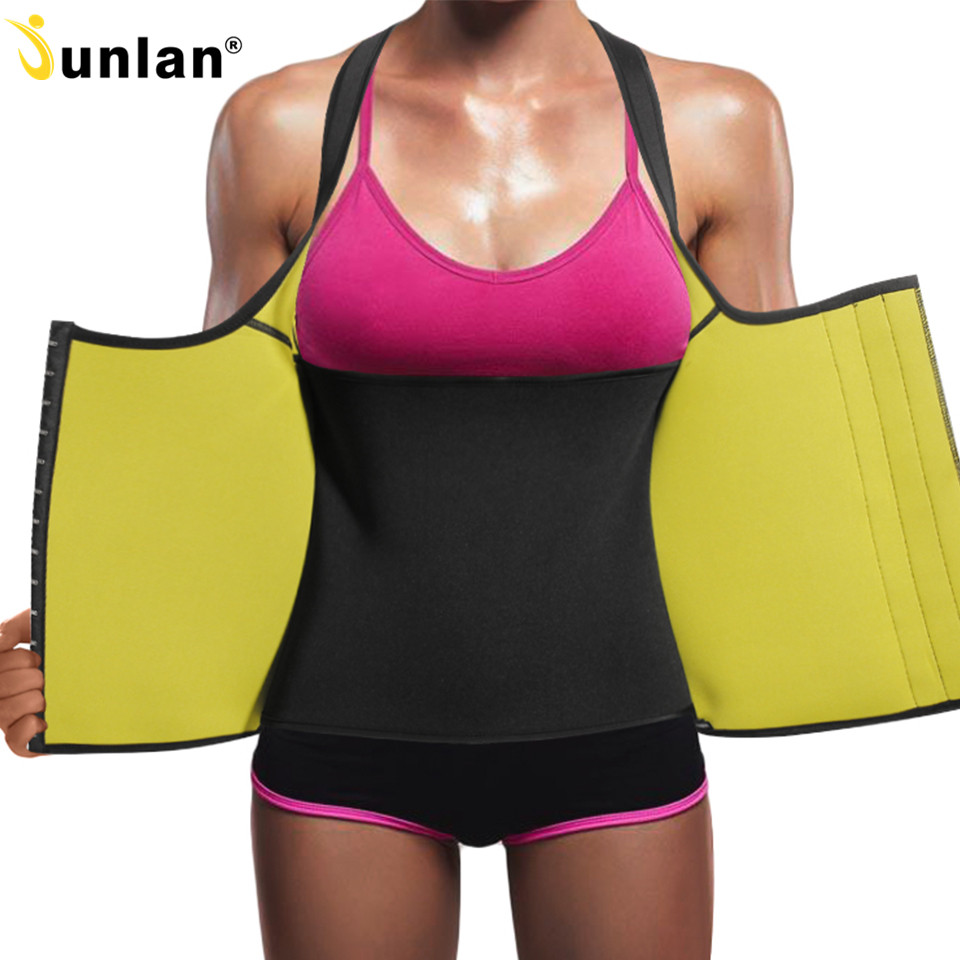 Junlan Women Workout Slimming Tops Neoprene Sauna Vest Female Corset for Weight Loss Body Control Shapewear Corrective Shapers