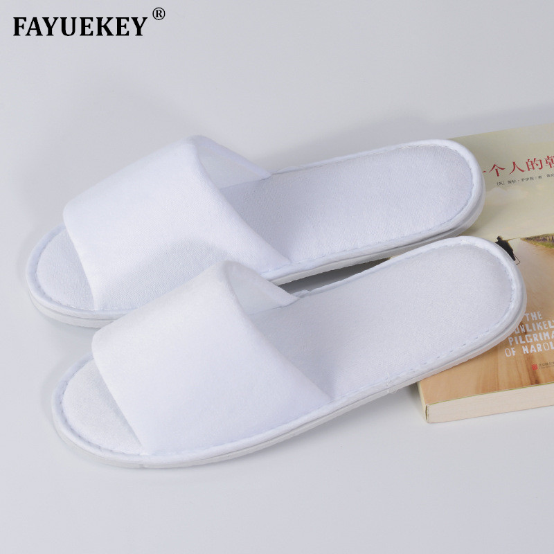 FAYUEKEY Borong Spring Summer Open-Toed Hotel Slippers Thickening Non-Slip Home Hospitaliti Guest Indoor  Floor Sandals Shoes
