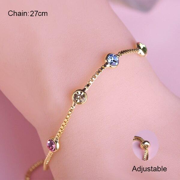 Summer Style Font Thin Chain Bracelets Korean Gelang