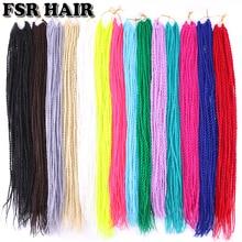 FSR 22 дюйма Сенегальские скрученные волосы крючком косы 30 корней/упаковка синтетические плетеные волосы для женщин