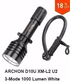 Archon D10U Dive Light Torch Zoomable 680LM CREE LED 60M Scuba 18650 Flashlight