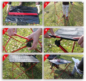 Image 4 - Hot Koop L Size Portable Opvouwbaar Opvouwbare Tafel Bureau Camping Outdoor Picknick Aluminium Ultra Licht
