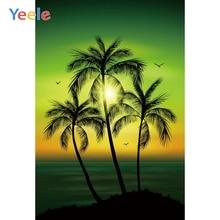 Yeele Evening Sunset Seaside Coconut Tree Scenery Photography Backgrounds Personalized Photographic Backdrops For Photo Studio