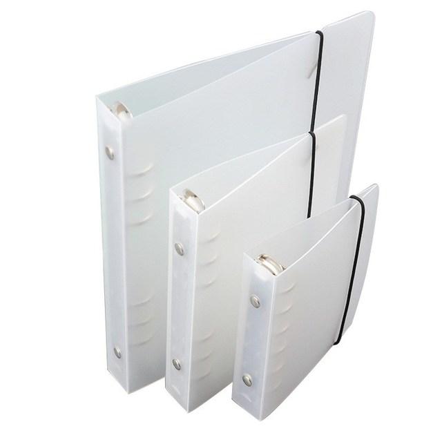 1 pc transparente de los PP de plástico de Color diario de hoja suelta anillo Clip Carpeta de archivo diario planificador cubierta A5 A6