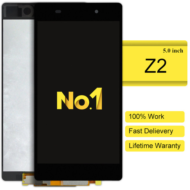 DHL 10 stks alibaba china highscreen clone Voor Sony Xperia Z2 L50w D6503 Lcd-scherm Met Touch Screen Digitizer Vergadering nieuwe