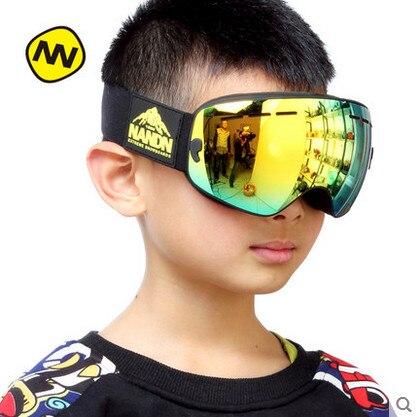 Nandn ng9 2017 Professional Лыжный Спорт Googles анти-туман зеркало Детские горнолыжные очки для верховой езды Очки Открытый Восхождение для детей