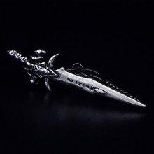 Спарта Мороз ледяной меч Зажимы для галстука посеребренные высокое качество металла мужские