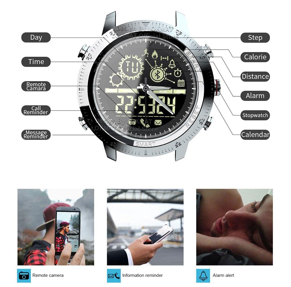 -1 Montre Intelligente Passomètre Sport IP68 Étanche