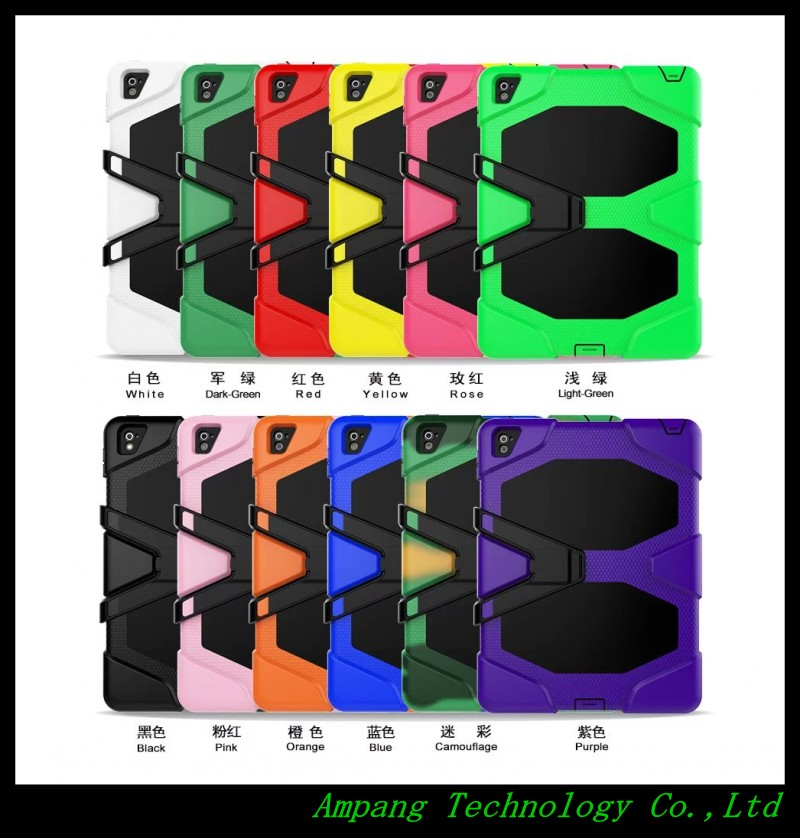 Fashion 2in1 Silicone Shockproof Armor Tablet Cases for iPad Pro 9.7 Case Kids Back Cover For New iPad Pro 9.7