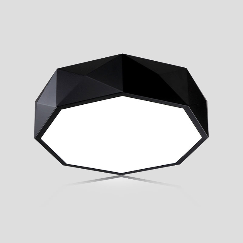 Personality Polygon Geometric Led Ceiling Light 24w Dimming Bedroom Living Room Foyer Room Ceiling Lamp Ceiling Lights & Fans Ceiling Lights