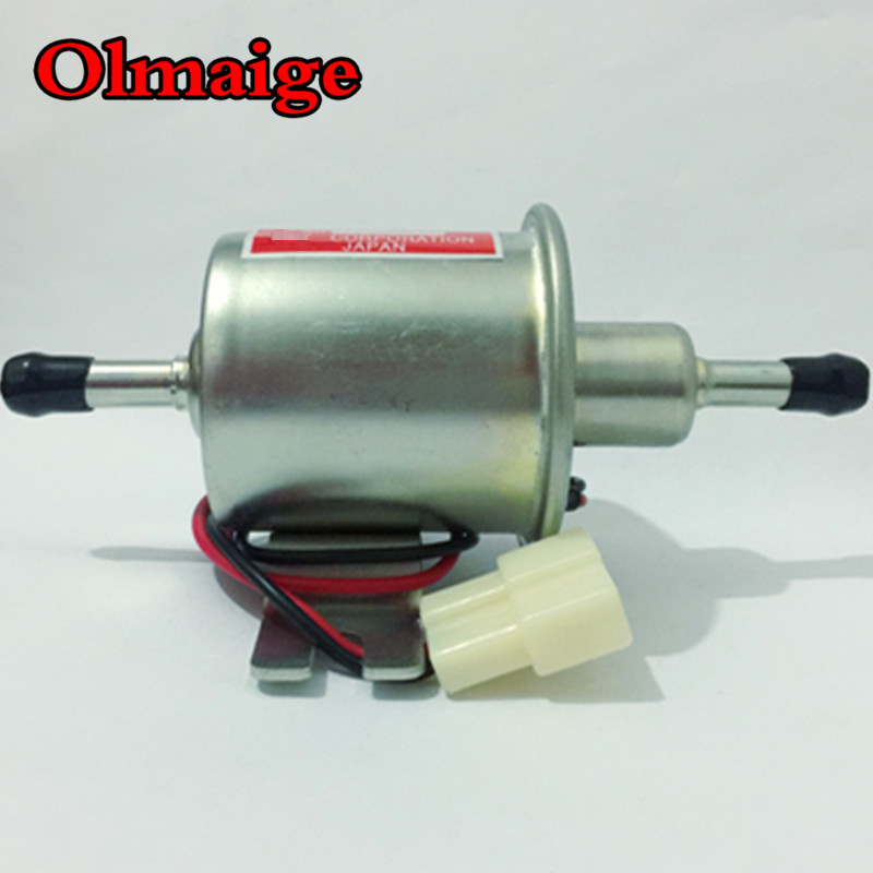 Universal dizel benzin benzini 12v elektrik yanacaq nasosu HEP-02A 8mm boru aşağı təzyiqli yanacaq bomba karbüratör motosiklet ATV