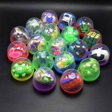 10 шт./компл. 45 мм круглые твист яйца-трансформаторы приобретаемые форму забавные гаджеты Интерактивная подарки для детей игрушки в капсулах случайный Стиль