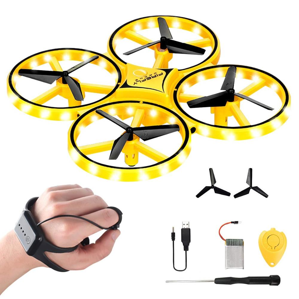 Mini Drone for Kids, 2 4G Gravity Sensor RC Nano Quadcopter with Infrared  Obstacle Avoidance, Hand Control, Throw to Fly