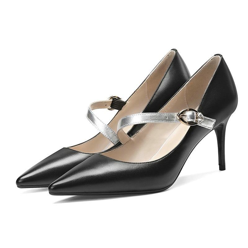 Zapatos Señoras Las Hebilla 8 Mujer De Mujeres Eshtonshero Boda Pu Alta Blanco Cuero blanco 3 Tacones Tamaño Negro Elegante Plataforma q4EwIIO
