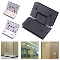 Heavy Duty 135 Degree Glass Door Hinge Cupboard Showcase Cabinet Pivot Glass Shower Doors Hinge WWO66