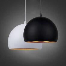 Lampe led suspendue en forme de boule, E27, design moderne et simpliste, luminaire décoratif dintérieur, idéal pour un café ou un Restaurant