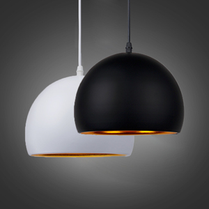 Image 1 - Moderne Einfache Ball E27 Anhänger Lichter Cafe Restaurant Beleuchtung Anhänger Lampe Leuchten Schmücken Lampe Droplight