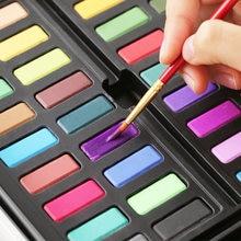 36 цветов твердые акварельные пигментные краски бумага металлическая