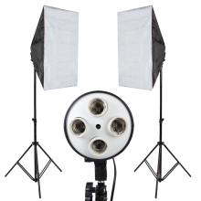 Photo Studio Softbox Kit Photo Equipment Of 2PCS 50×70  Softbox Light Stand For Camera Photo Studio Diffuser BA350