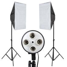 Photo Studio Softbox Kit Photo Equipment Of 2PCS 50×70  Softbox Light Stand For Camera Photo Studio Diffuser BA350