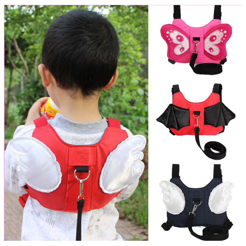 Angel Wings Travel Outdoor Anti Lost Baby Safety Harness Baby Wrist Leash Walking Harness Leashes
