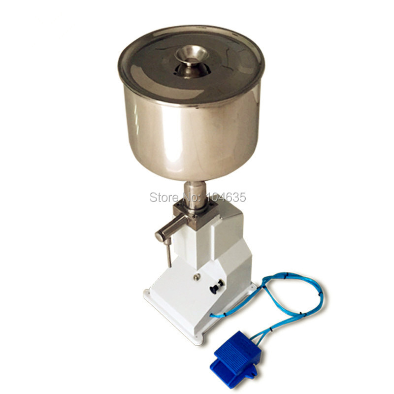 A02 Manual hand pressure stainless paste filling machine dispensing liquid packaging equipment sold cream machine 0 ~ 50ml economic and practical manual cream paste filling machine manual liquid filling machine 5 50ml manual liquid filler factory
