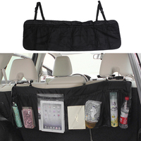 Car Seat Back Bag Multi-Pocket Auto Hanging Storage Bag Organizer Vehicle Hanger Storage Bag Large Capacity Easy Remover