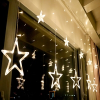 1.6M Led Christmas Star Lights String Fairy Light 8 Modes Xmas Lights For Wedding Party Holiday Garden Night Lighting Lamps