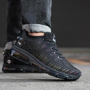 Image 4 - ONEMIX Zapatillas de correr para hombre, zapatos reflectantes de alta calidad, con cojín de aire, para entrenamiento deportivos, para correr, de talla grande