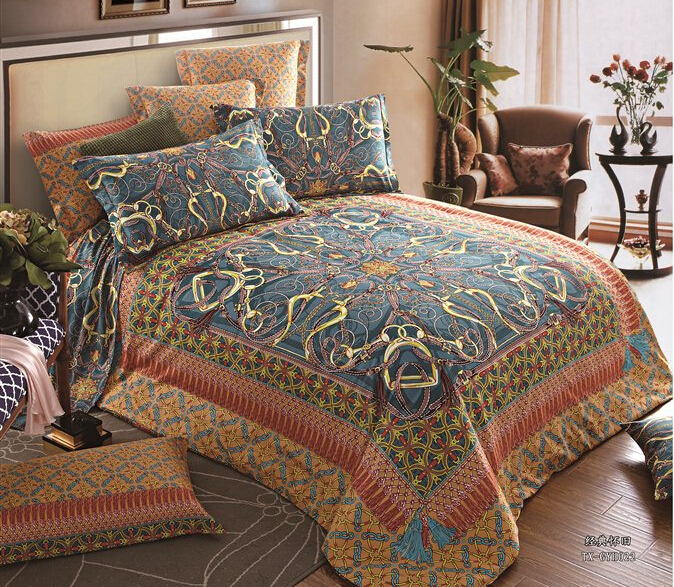 buy 100 egyptian cotton queen king size bedding setsclassic bohemian  designs duvet cover bed sheets pillowcase bedroom hotel set