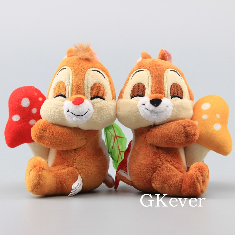 Cute Chipmunks With Mushrooms Mini Stuffed Animals Adorable Plush Toy Dolls 11 Cm