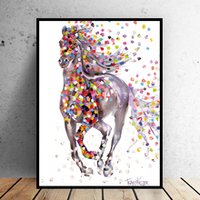 Frameless Print colorful horse painting modern home decor Abstrct art canvas picture for living room print on