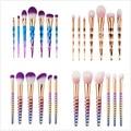 Nuevo Color Dazzle 6 Unids/7 Unids Pinceles de Maquillaje Kit Set Polvos Sombra de Ojos Delineador de Labios Cepillo Herramientas Cosméticas Mango cóncavo