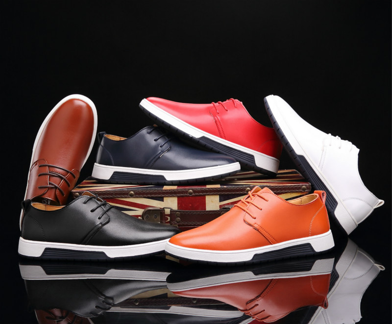 2018 New Arrival Men Casual Shoes Soft leather flat shoes High Quality Leather Shoes Hot Sale