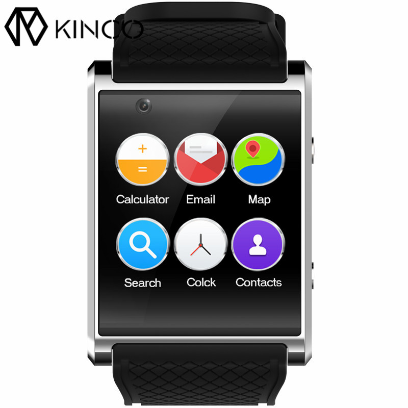 KINCO 1.54 inch MTK6580 4G+512MB Bluetooth Smart Watch Phone SIM Card 3G WIFI GPS Camera Video Call Bracelet for IOS/Android kinco 512m 4g mt6572a gps ips 1 3 inch android 4 4 heart rate monitor smart phone watch steps anti lost bracelet for ios android