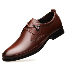 2019 Autumn Newest Arrival Men Business Dress Shoes Loafers Fashion Style High Quality Big Siz Lace-up Soft DB0144