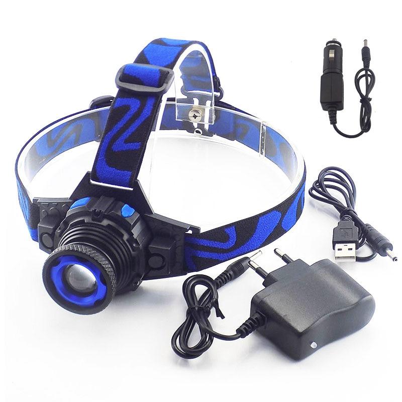 Jaudīgs Q5 LED priekšējais LED priekšējais lukturis Lukturis Uzlādējams Linternas lampas lāpu lukturis Lukturis ar iebūvētu akumulatoru lādētājs