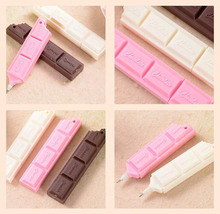 5pcs/ lot , Novelty Chocolate Shaped Ballpoint Pen as Gift for School Kids 0.7mm Black Ink 9.5cm in Length