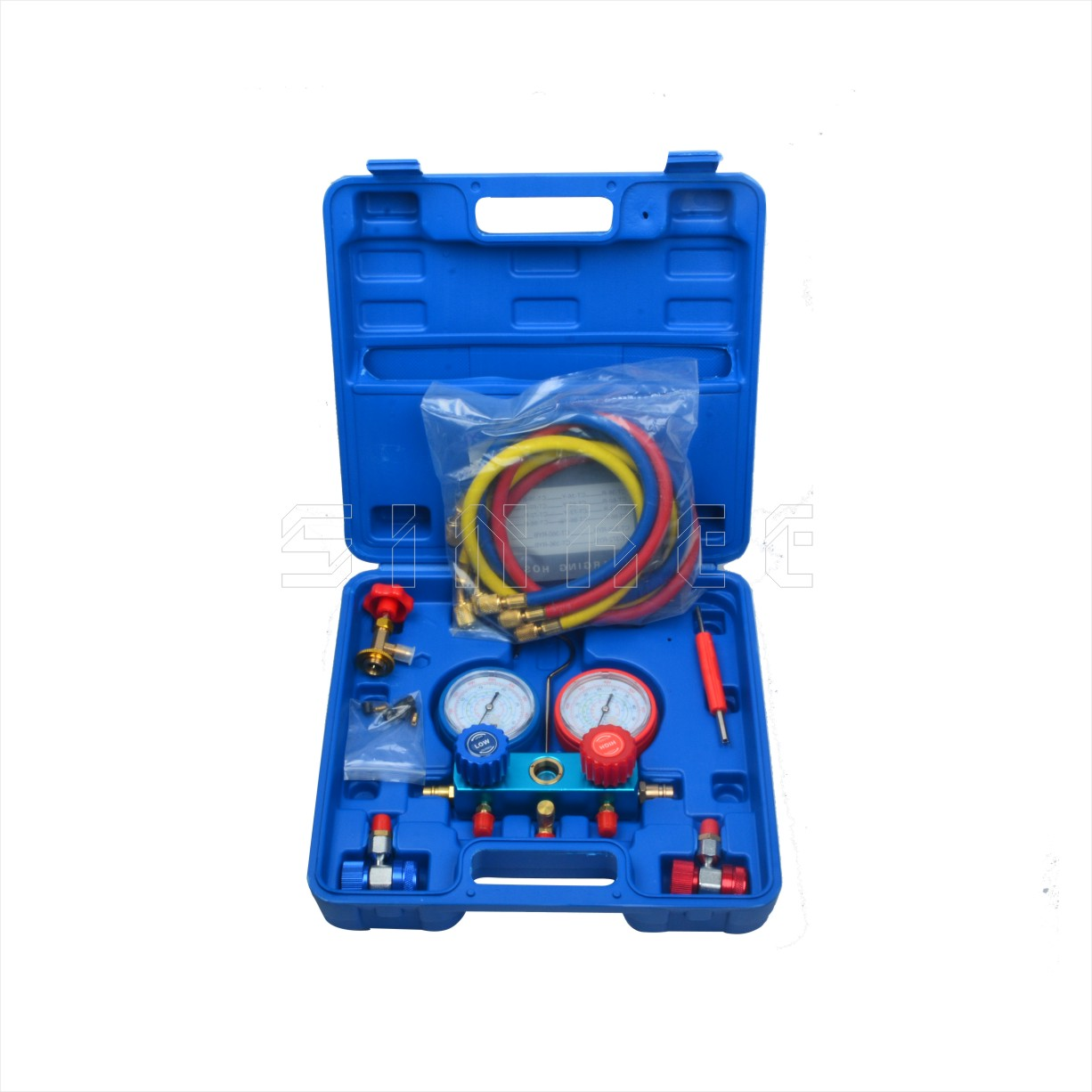 R134A AC A/C Collecteur Jauge Test Set Climatiseur De Charge Testeur Pompe Service Kit SK1553