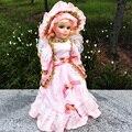 41 cm de 16 polegadas Real de porcelana boneca de cerâmica menina com vestido